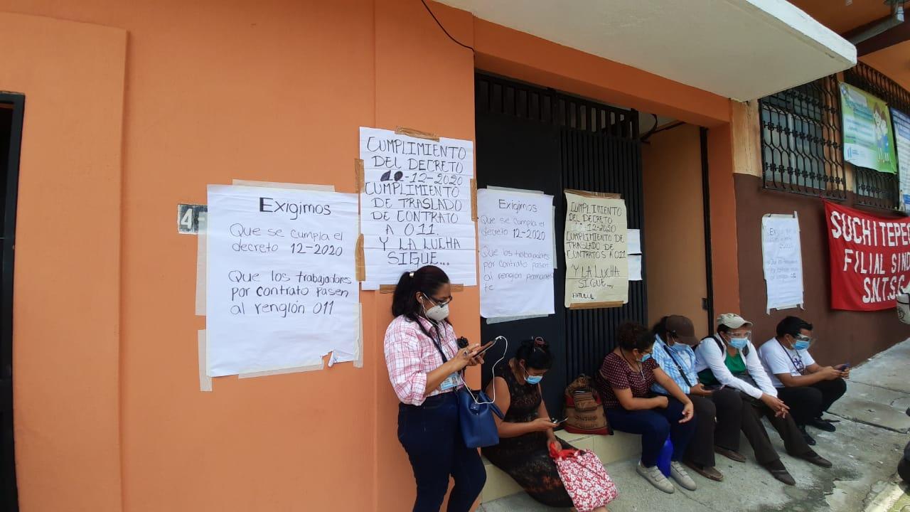 Los manifestantes esperan respuestas positivas ante sus peticiones. (Foto: Cristian Soto)