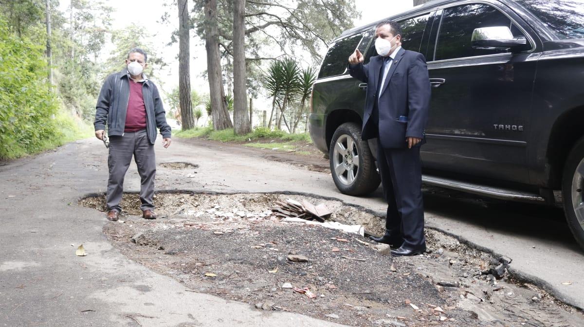 Las autoridades anunciaron que realizarán mejoras a los más de 4 kilómetros del tramo de la carretera en Quetzaltenango, por donde pasará la caravana de la Vuelta a Guatemala. (Foto: Carlos Ventura)