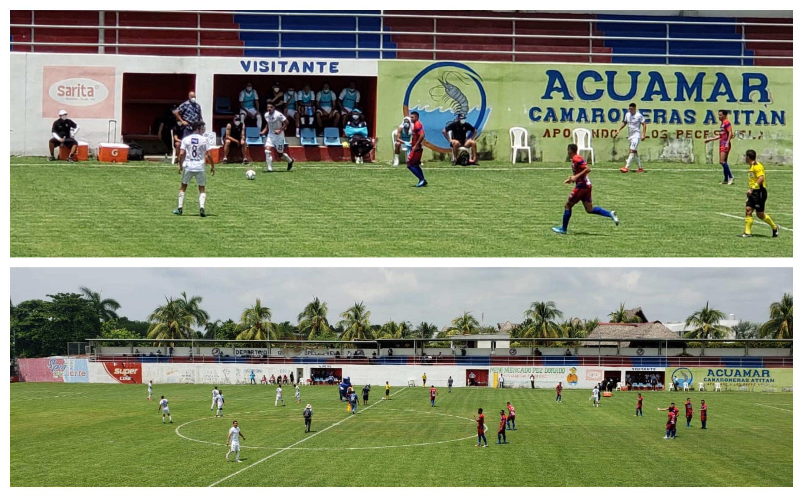 Iztapa y Comunicaciones empataron 1-1 en el Estadio El Morón, bajo un intenso calor que promedió los 30° centígrados durante el juego. (Foto: Liga Nacional)