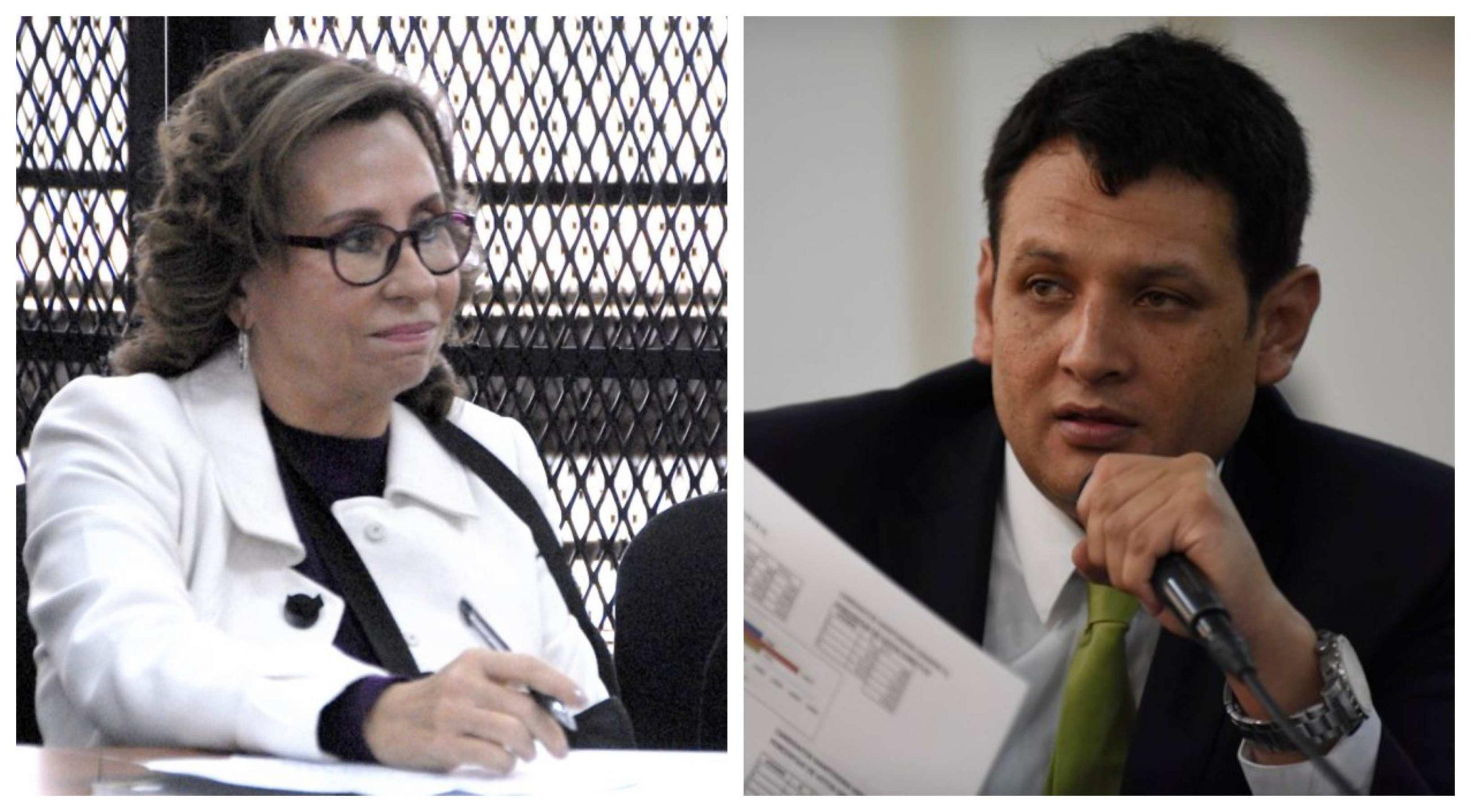 La pugna interna por el control del partido continúa entre Sandra Torres y Oscar Agueta. (Foto: El Periódico y La Hora)
