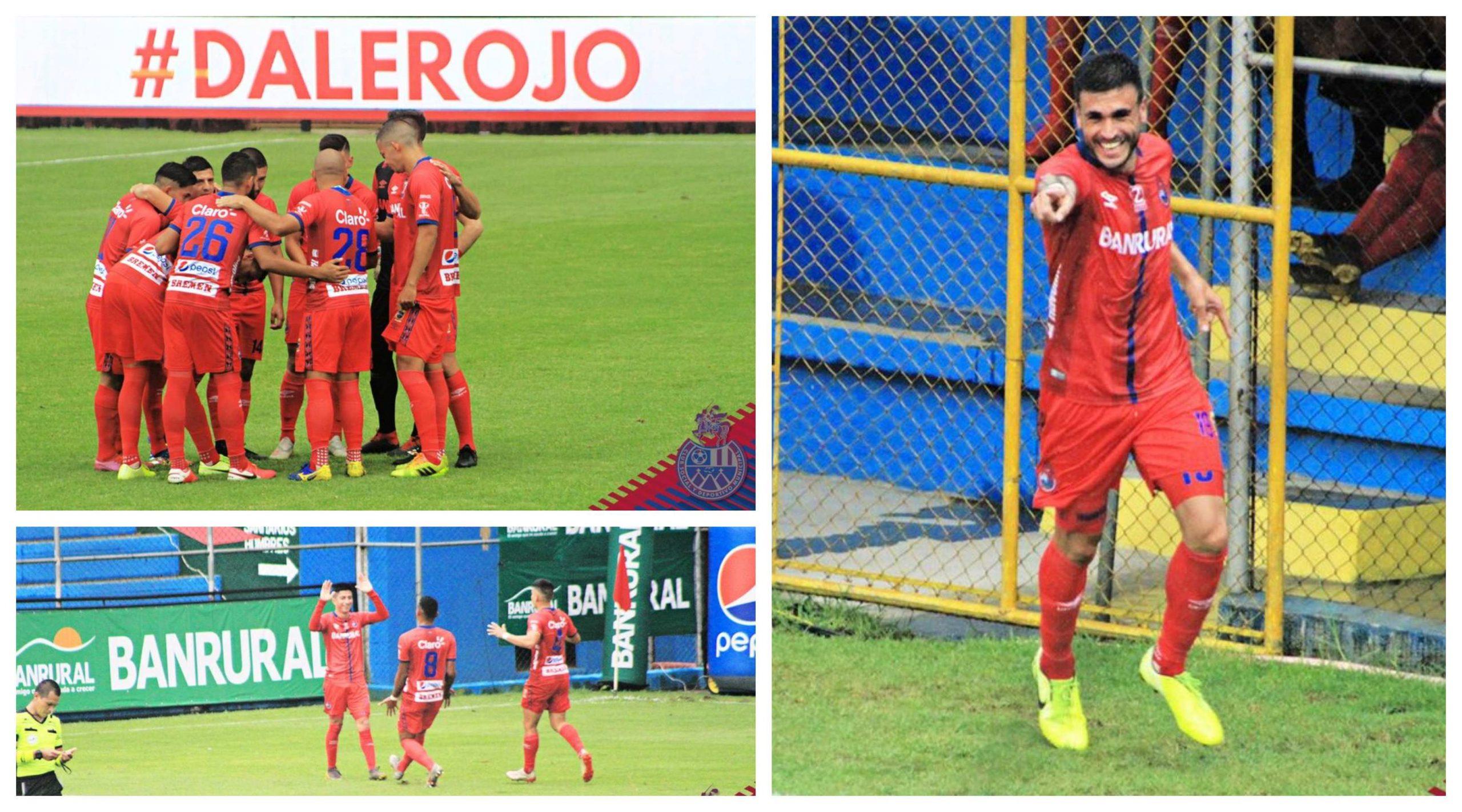 Municipal celebró su segunda victoria del campeonato con un contundente 5-0 sobre el Deportivo Sanarate. El argentino Ramiro Rocca marcó cuatro de los cinco goles rojos. (Foto: CSD Municipal)