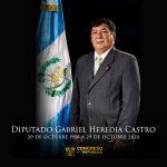 El diputado Gabriel Heredia Castro, de la Unidad Nacional de la Esperanza -UNE-, falleció en la noche del jueves a causa de COVID-19; esto según confirmaron este viernes diversas fuentes oficiales.