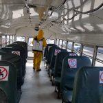 En Quetzaltenango ya iniciaron los ensayos de buses urbanos grandes y solo opera el 40 por ciento. (Foto: Carlos Ventura)