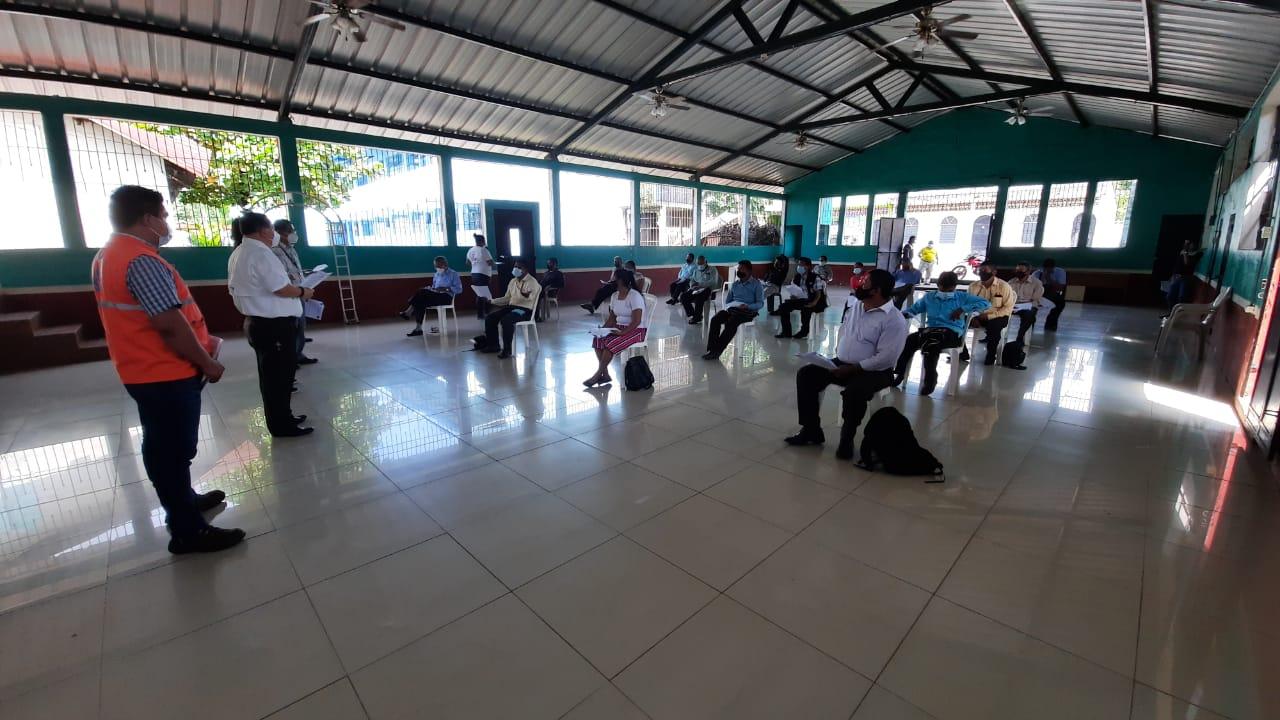 Suchitepéquez: La reunión informativa se realizó en el salón municipal de San Lorenzo.
