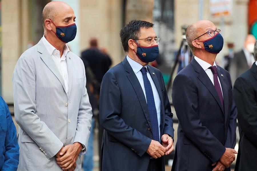 El vicepresidente económico del Barcelona, Jordi Moix, dio a conocer los datos y las cifras que le ha costado la pandemia del COVID-19 al club catalán. (Foto: EFE)