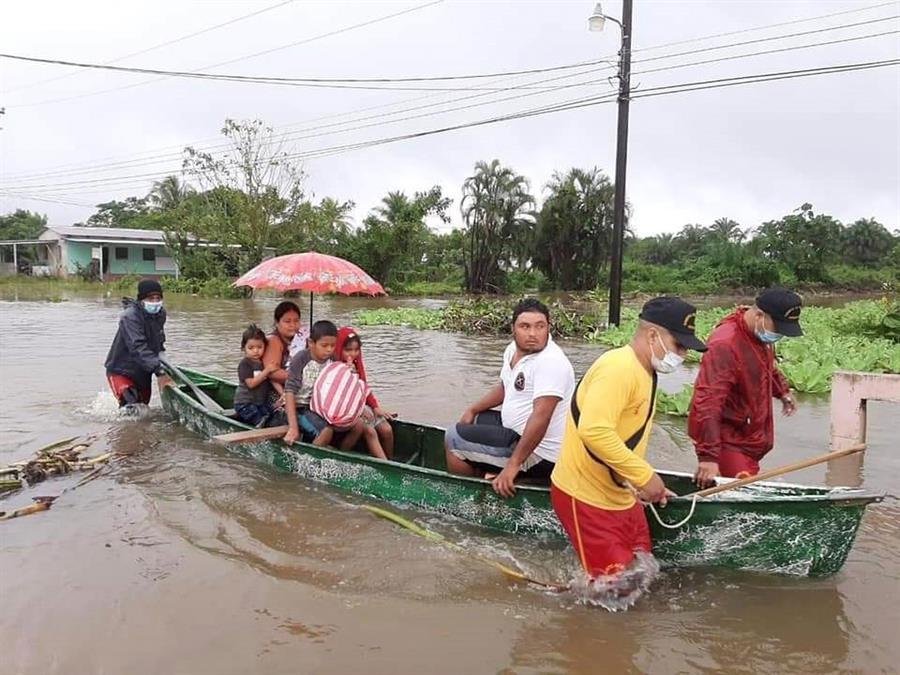 El huracán ETA ya ha provocado inundaciones en Honduras debido a las fuertes lluvias. (Foto: EFE)