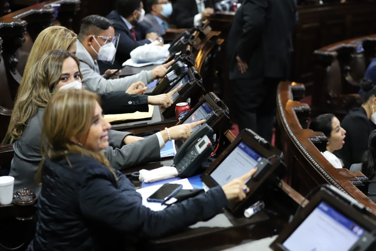 Los diputados del Congreso aprobaron la negociación de un préstamo contingente por US$594 millones -unos Q4 mil 573 millones- con el Fondo Monetario Internacional. (Foto: Congreso)