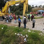 La administración municipal de Quetzaltenango y USAID, inició la construcción de dos de cinco puentes para mejorar la movilidad de los vecinos. (Foto: Carlos Ventura)