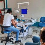Los habitantes de Cuyotenango cuentan desde ya con el servicio gratuito de la clínica dental. Las autoridades vieron la necesidad de atender a la población con este servicio y fue como se construyó el proyecto que ha iniciado atender a los pacientes. (Foto: Cristian Soto)