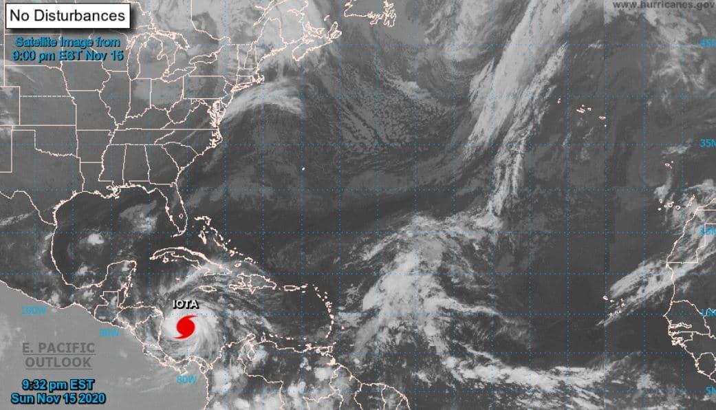 Autoridades de Guatemala esperan un incremento de lluvias entre martes y el viernes debido al acercamiento del huracán Iota a Centroamérica. (Foto: Hurricanes.gov)