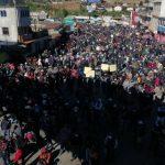 Cientos de personasparticiparon en bloqueos este lunes varias puntos de ruta interamericana en protesta contra el presidente Alejandro Giammattei. (Foto: Twitter)