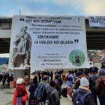 Pobladores de Totonicapán llevan a cabo este miércoles una manifestación que incluye bloqueos en varios puntos de la ruta Interamericana. (Foto: Cortesía)