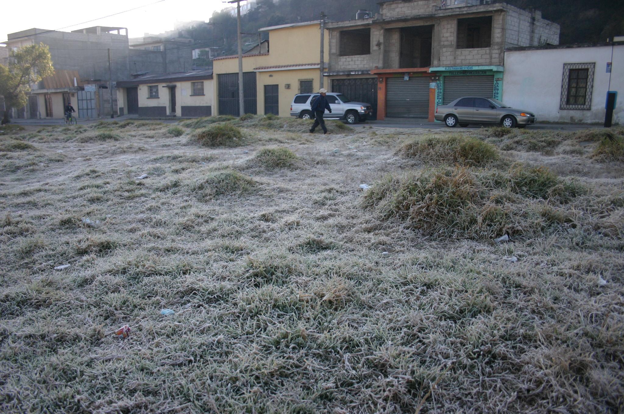 Llegó la primera helada en Xelajú y occidente