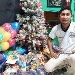 """""""Un juguete para Navidad"""" es la campaña que un grupo de mazatecos inició para recaudar juguetes para niños en la época navideña. (Foto: Cristian Soto)"""