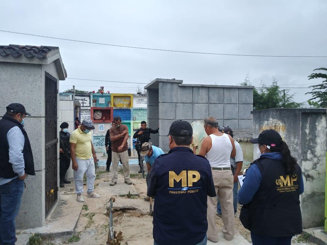 La Fiscalía Especial del Caso Siekavizza seguirá con exumaciones en busca de los restos de Cristina Siekavizza, en Sanarate.