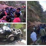Un accidente de tránsito dejó 10 muertos cuando el vehículo en el que viajaban cayó por un barranco, en Tajumulco, San Marcos.
