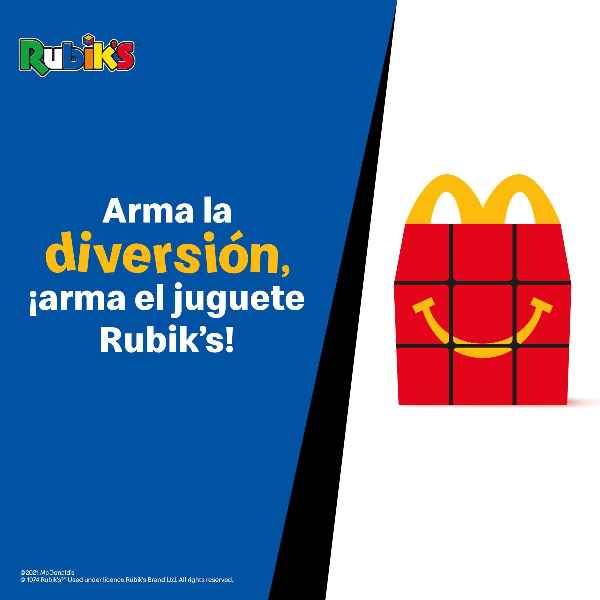 McDonald'sincluye en su Cajita Felizelcubo deRubik's, eljuguete más vendidodelahistoria