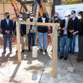 Autoridades municipales de Quetzaltenango dieron a conocer la construcción de un carri auxiliar en una zona comercial del departamento.