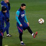 El argentino Lionel Messi sigue siendo la gran duda en el FC Barcelona para la final de la Supercopa de España contra el Athletic de Bilbao. El partido se disputará el domingo en Sevilla.