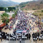 El Gobierno de Guatemala disolvió ayer a la fuerza a la caravana migrante compuesta por más de 6 mil hondureños