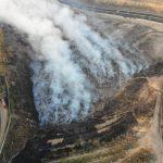 El incendio registrado en el vertedero del kilómetro 22 de la ruta al Pacífico ha sido controlado por los cuerpos de socorro que permanecen en el lugar.