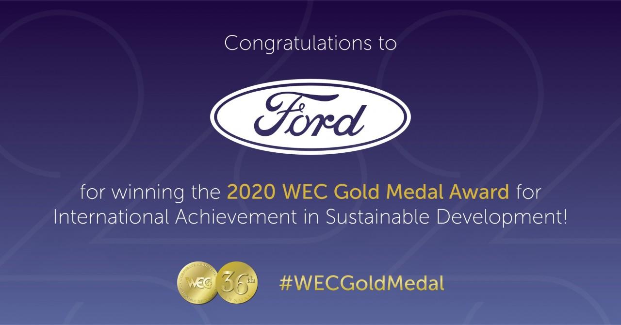 Ford recibe reconocimiento de sostenibilidad corporativa global