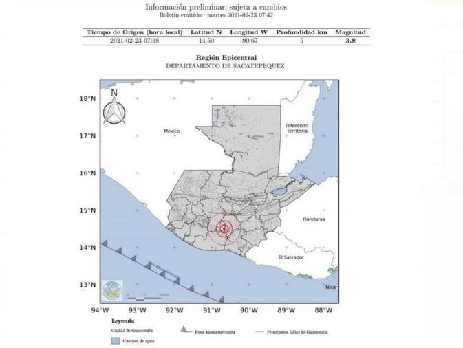 Guatemala reportó un nuevo evento sísmico con epicentro en el departamento de Sacatepéquez. En total se han detectado 44 sismos desde el lunes.