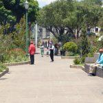 Autoridades de salud podría solicitar el cierre del parque central de Quetzaltenango, debido al alto número de contagios de COVID-19.