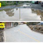 Varios vecinos de la 27 avenida entre 11 calle y diagonal 11B de la zona 1, de Quetzaltenango, celebraron la reparación de la calle. Las personas festejaron con cohetillos, música de marimba y paches porque ya no sufrirán con el polvo y de los lugares donde se posa el agua de lluvia.