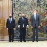 El presidente Alejandro Giammattei se reunió este lunes con el Rey de España, Felipe VI, en su visita a ese país; el mandatario viajó a la Cumbre Iberoamericana de Jefes de Estado y Gobierno, en Andorra.