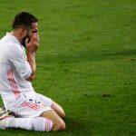 """El Real Madrid ha confirmado la quinta lesión en lo que va del año de Dani Carvajal. """"Se le ha diagnosticado una lesión muscular en la pierna derecha"""", reza un comunicado del club; esto indica que termina la temporada para el jugador, con la Liga y la 'Champions' en juego."""