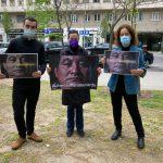 """Varias organizaciones no gubernamentales reclamaron este jueves en la Embajada de Guatemala en España la liberación del líder indígena Bernardo Caal Xol; a este líder al que consideran """"injustamente"""" encarcelado desde hace más de tres años."""