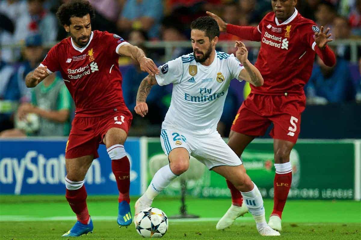 El Real Madrid se enfrenta contra el Liverpool en el estadio Alfredo Di Stefano, en el juego de ida de los cuartos de final de la Liga de Campeones de Europa.