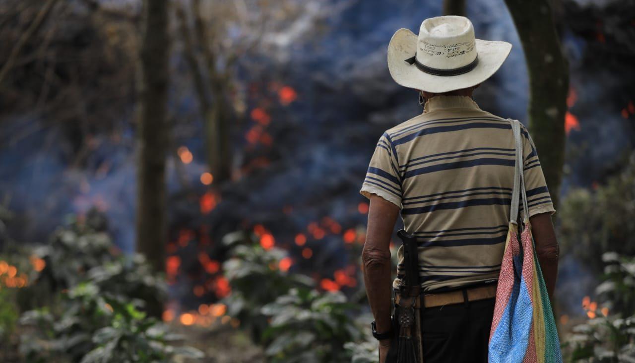 Los flujos de lava del volcán Pacaya se mantienen activos, principalmente en los flancos sureste y suroeste; han alcanzado una distancia de más de 3 mil metros.