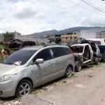 Autoridades de Quetzaltenango atienden la problemática de carros consignados que se encuentran colocados en las subestaciones de la Policía Nacional Civil -PNC-.