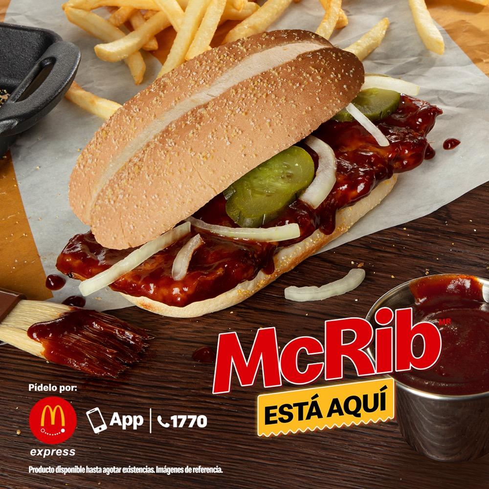 ¡McRib está de regreso en McDonald's!