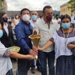 La antorcha por el Bicentenario llegó a Cobán, Alta Verapaz, como parte de la celebración de los 200 años de Independencia de Guatemala que finaliza en septiembre.