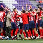 El Atlético de Madrid remontó para lograr el título número 11 de su historia de LaLiga luego de vencer 2-1 al Valladolid en la última fecha. El Valladolid perdió la categoría con la derrota ante los colchoneros.