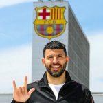 """El delantero argentino Sergio """"El Kun"""" Agüero se convirtió en el nuevo jugador del FC Barcelona para las siguientes dos temporadas."""