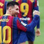 El argentino Leo Messi, delantero del Barcelona que no jugó en la última jornada, terminó por quinta temporada consecutiva y por octava vez en su carrera, máximo goleador de la liga española.
