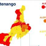 Un total de 12 municipios de Quetzaltenango se mantienen en alerta roja, mientras que el número de alerta amarilla subió a nueve; además tres permanecen en alerta naranja indicaron las autoridades del Ministerio de Salud Pública y Asistencia Social -MSPAS-.