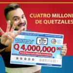 Lotería Santa Lucía realizará el Sorteo Extraordinario No. 360, el 8 de agosto, en donde dará a conocer al ganador o ganadora del premio de Q4 millones entre los 80 mil números que entrarán en el sorteo.