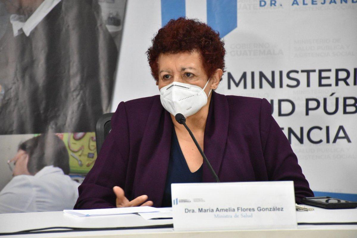 La ministra de Salud Pública Amelia Flores, dio positivo por COVID-19 y presenta un cuadro estable; así lo indicó la cartera que dirige en un escueto comunicado de prensa.