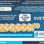Lotería Santa Lucía lanza billete conmemorativo enfocado a la niñez