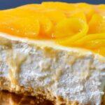 Cheesecake de melocotón ¡sin necesidad de horno!