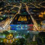 Los edificios históricos de Xela se iluminaron con los colores de la bandera de Quetzaltenango, rojo, azul y blanco, con motivo del bicentenario de independencia. Esta actividad estuvo a cargo de las autoridades municipales.