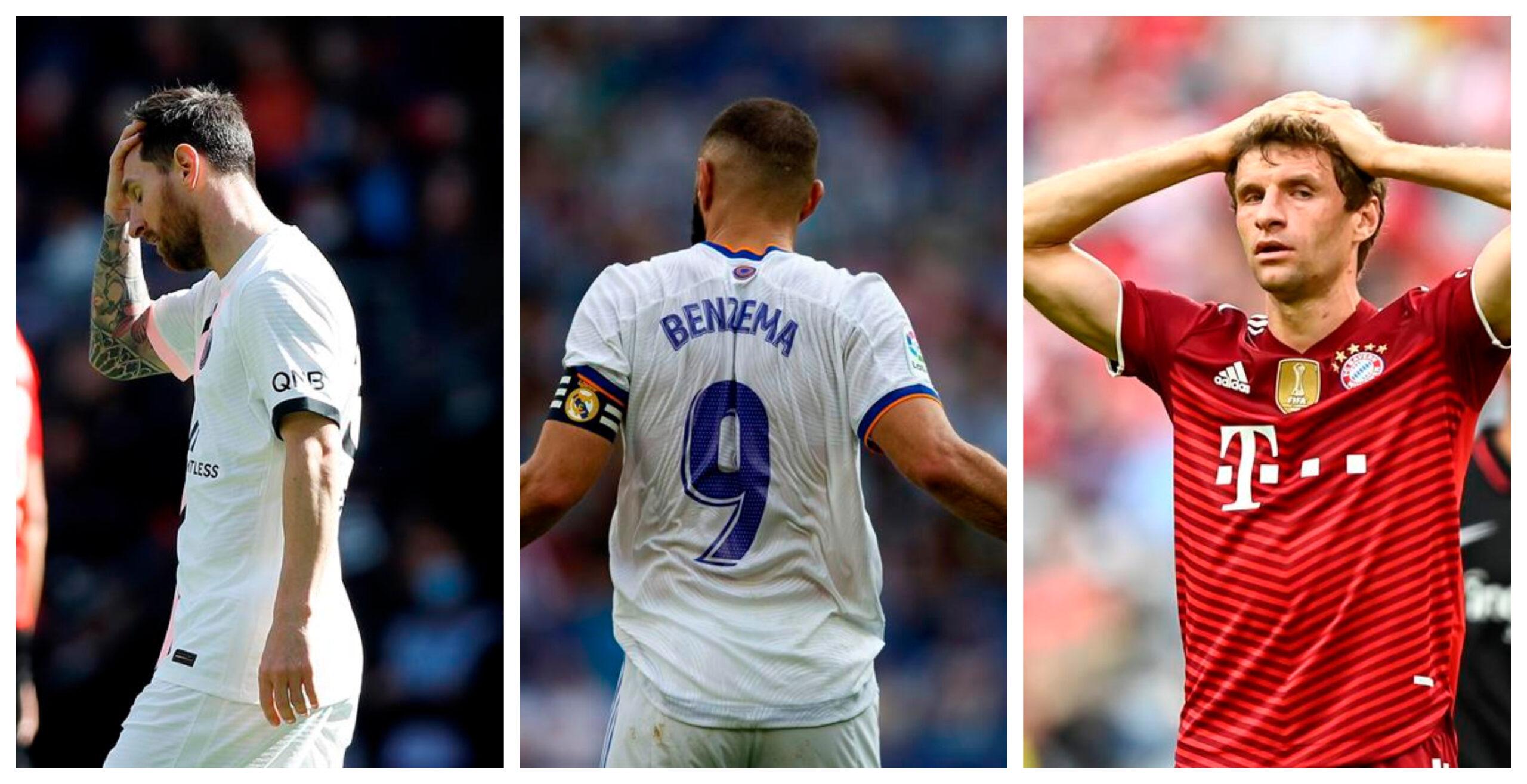 La jornada del fin de semana marcó derrotas en Francia, al PSG, al Real Madrid en España y al Bayern Munich en Alemania.