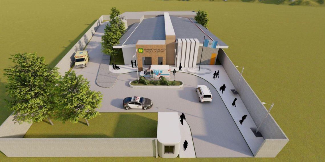 Las autoridades colocaron la primera piedra del que será el hospital permanente para la atención del COVID-19 en Huehuetenango.