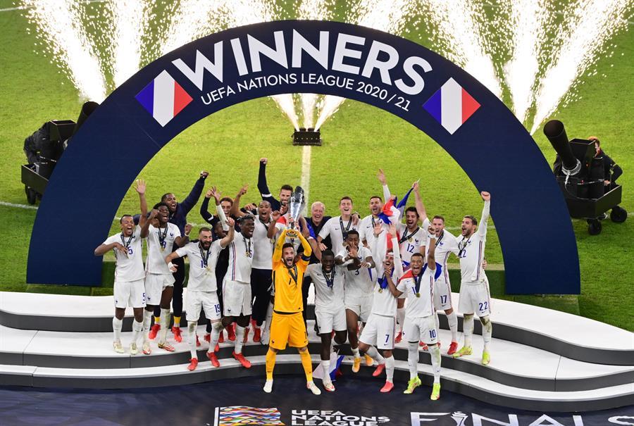 Un polémico gol de Kylian Mbappé convirtió a Francia en la campeona de la segunda edición de la Liga de Naciones de la Uefa contra España