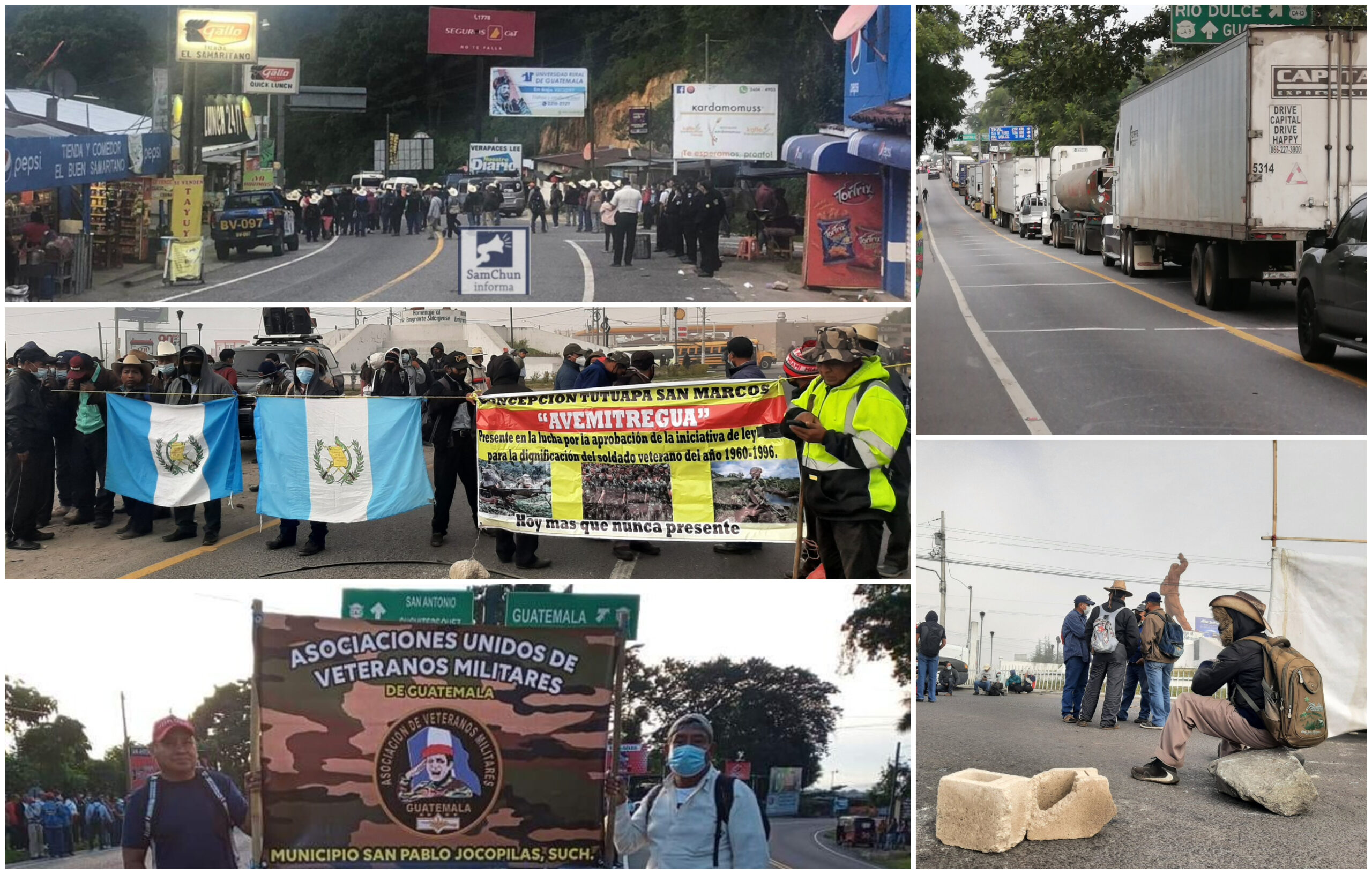 Los bloqueos anunciados por los exmilitares que buscan una indemnización por sus servicios prestados al estado, paralizan las rutas. Los manifestantes habían anunciado que bloquearían las principales arterias del país durante tres días a partir de este miércoles 13 de octubre.
